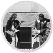 Day On The Green 6-6-76 #2 Round Beach Towel
