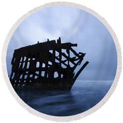 Peter Iredale Shipwreck Oregon 3 Round Beach Towel