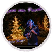 Peter Mayer Stars And Promises Christmas Tour Round Beach Towel
