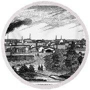 Petersburg, Virginia, 1856 Round Beach Towel
