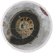 Petrified Round Beach Towel
