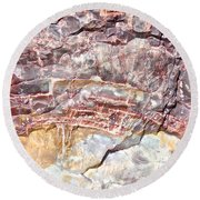 Petrified Rings Round Beach Towel