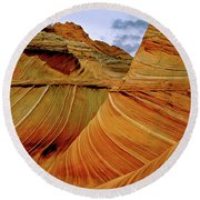 Petrified Sand Dunes The Wave Round Beach Towel