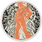 Petrograd Red Seventh November Revolutionary Poster Depicting A Russian Sailor Round Beach Towel