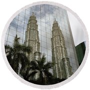 Petronas Reflecting Round Beach Towel
