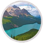 Peyto Lake Along Icefield Parkway In Alberta-canada Round Beach Towel