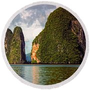 Phang Nga Bay Round Beach Towel