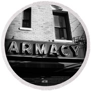 Pharmacy - Storefronts Of New York Round Beach Towel