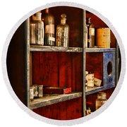 Pharmacy - The Back Room Round Beach Towel
