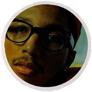 Pharrell Williams Round Beach Towel by Marvin Blaine