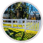 Phelps Cemetery  Round Beach Towel