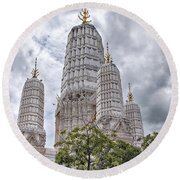 Phetchaburi Temple 17 Round Beach Towel