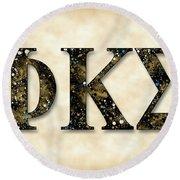 Phi Kappa Sigma - Parchment Round Beach Towel