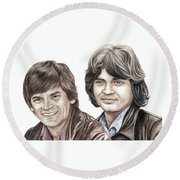 Phil And Don Everly Round Beach Towel
