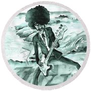 Phil Lynott In Howth Round Beach Towel