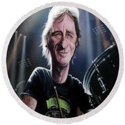 Phil Rudd Round Beach Towel