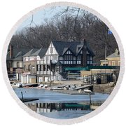 Philadelphia - Boat House Row Round Beach Towel