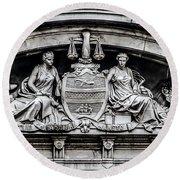 Philadelphia City Hall - City Seal  Round Beach Towel