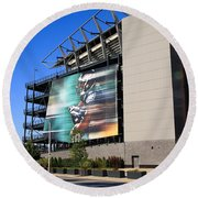 Philadelphia Eagles - Lincoln Financial Field Round Beach Towel by Frank Romeo