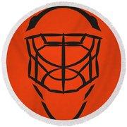 Philadelphia Flyers Goalie Mask Round Beach Towel