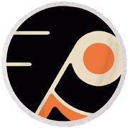 Philadelphia Flyers Round Beach Towel by Tony Rubino