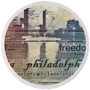 Philadelphia Freedom Round Beach Towel