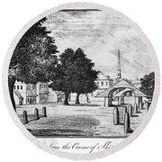 Philadelphia Market, 1788 Round Beach Towel