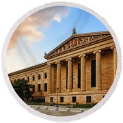 Philadelphia Museum Of Art Round Beach Towel