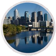 Philadelphia Pennsylvania Round Beach Towel