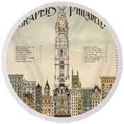 Philadelphia Skyscrapers Round Beach Towel