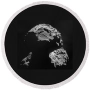 Philae Landing Site On Comet 67pc-g Round Beach Towel