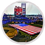 Phillies American Round Beach Towel by Alice Gipson