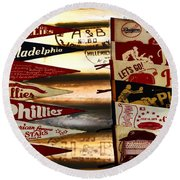 Phillies Pennants Round Beach Towel