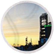Phillies Stadium At Dawn Round Beach Towel