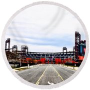 Phillies Stadium - Citizens Bank Park Round Beach Towel by Bill Cannon