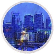 Philly Blue Round Beach Towel
