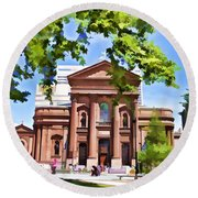 Philly Church View Round Beach Towel