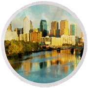 Philly Gleamin Round Beach Towel