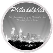 Philly Glow Round Beach Towel
