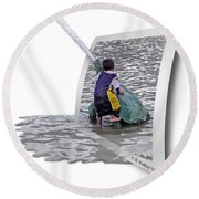 Philly Kid - Oof Round Beach Towel