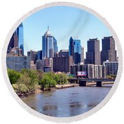 Philly Skyline Round Beach Towel