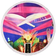 Phish New Years In New York Middle Round Beach Towel by Joshua Morton