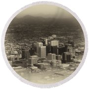 Phoenix Az Downtown 2014 Heirloom Round Beach Towel