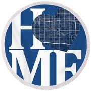 Phoenix Street Map Home Heart - Phoenix Arizona Road Map In A He Round Beach Towel