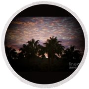 Phoenix Sunset Round Beach Towel