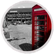 Phone Box London Round Beach Towel