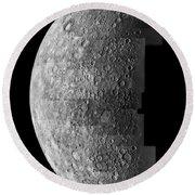 Photo Mosaic Of Images Of Mercury  Round Beach Towel