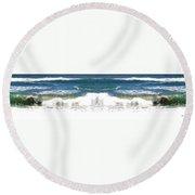 Photo Synthesis 7 Round Beach Towel