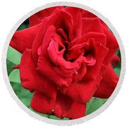 Photograph Reddest Of Roses Round Beach Towel