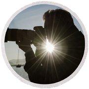 Photographer Round Beach Towel